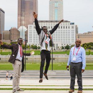 Trois boursiers du Cfibd à Columbus, photographiés par Dane Khy